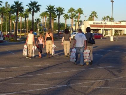In Tucson angekommen wurden wir unser Geld beim Shoppen schnell los